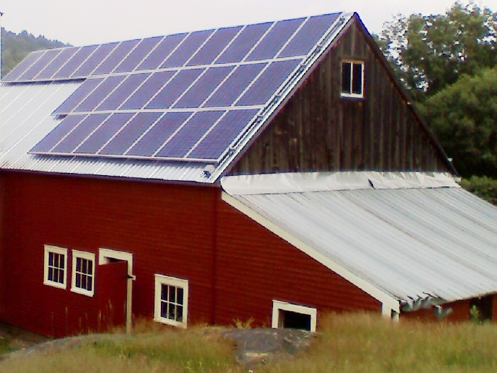 5.3 kW Barn Roof mounted Solar Array in Northfield VT
