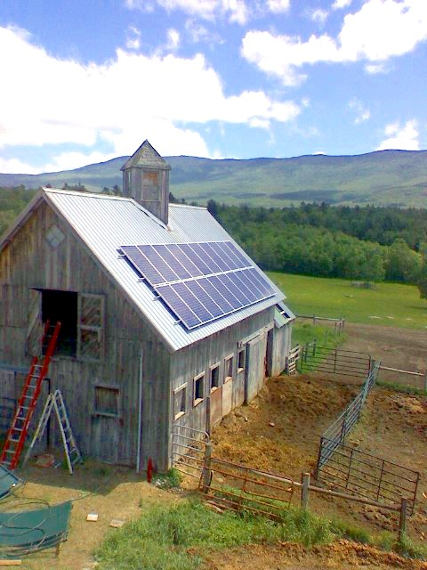3.8 kW Barn Mounted Array (2007)
