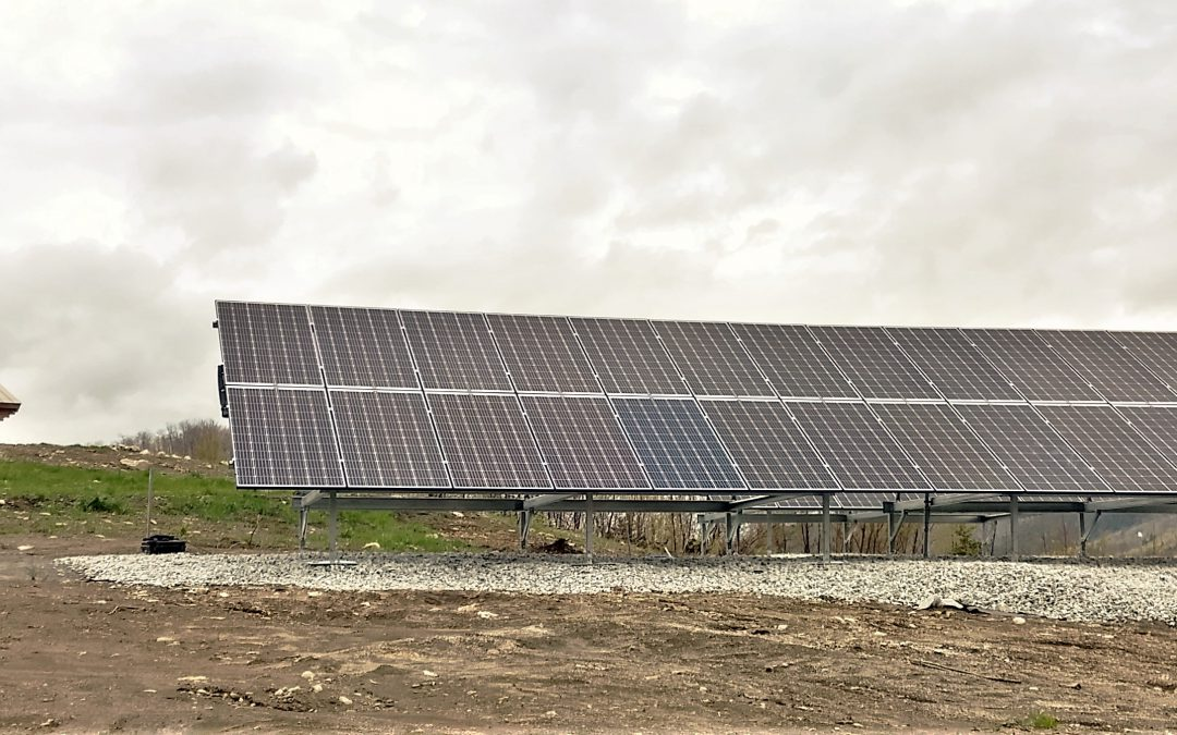 14.4 kW Ground Mount in Orange VT